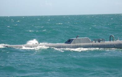 Using a submarine to smuggle coke