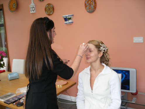 wear the correct clothing making it easy to remove without upsetting your wedding hair and makeup.