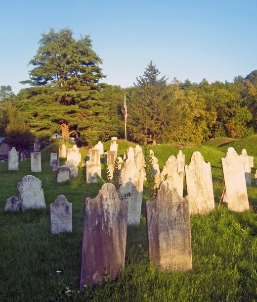 Revolutionary War cemetery.