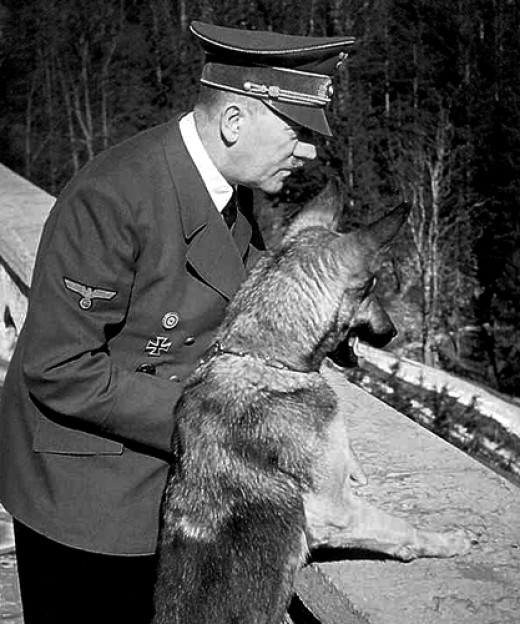Hitler with his dog