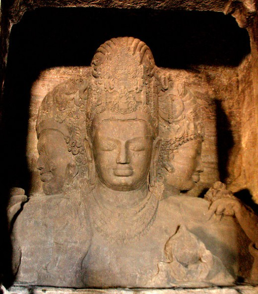 Elephanta Caves, Trimurti