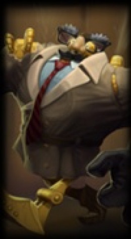 An incredible skin for Blitzcrank. The best out there. Unforunately it is currently unavaliable.