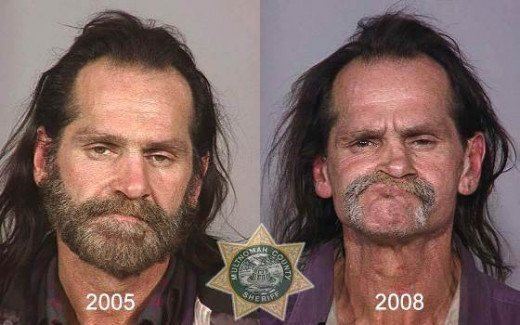 Handsome Man Vs. Same ol' ugly man (after doing Meth)