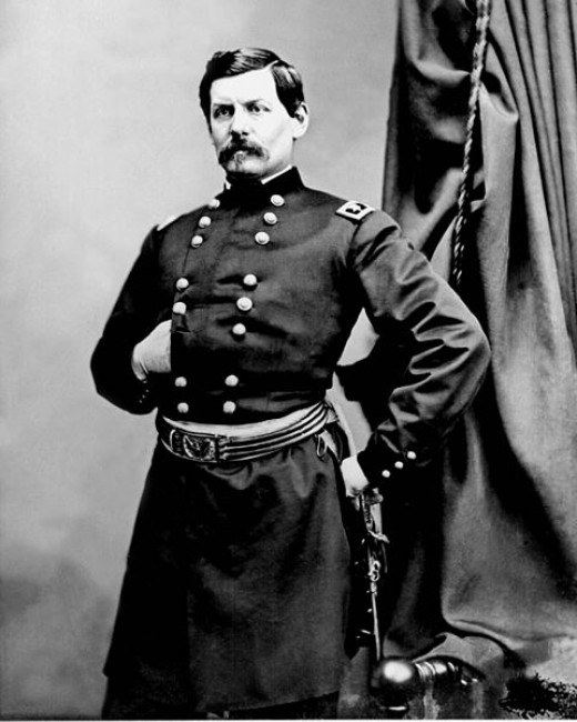 General George B McClellan, commander of the Union forces at Antietam.