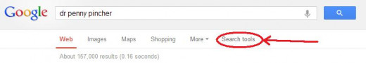 Use Search Tools in Google to Filter Results