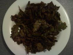 Finished kale chips