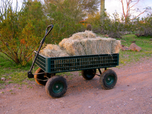 A good utility cart:  worth its weight in hay.