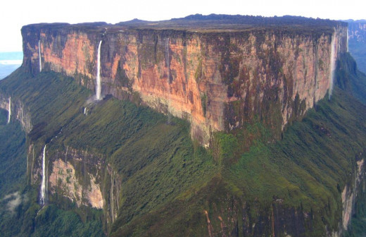 Mt. Roraima, bordering Guyana, Venezuela and Brazil