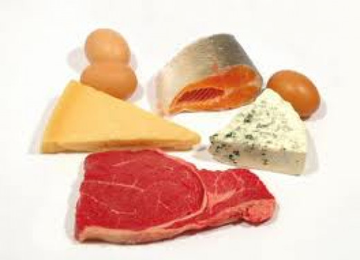Animal protein should be reduced and/or restricted. Animal protein consists of red meat (beef), chicken, turkey, fish and eggs.