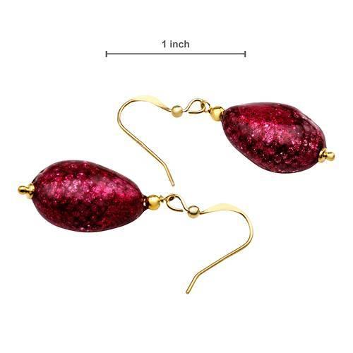Venetiarurm(r) Glass Jewelry - red, pierced earrings