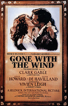 "Original Theater Poster of ""Gone With The Wind"""