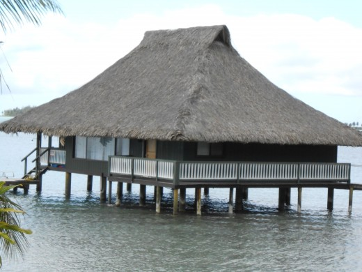 Imagine living in this Bora Bora home on the water!