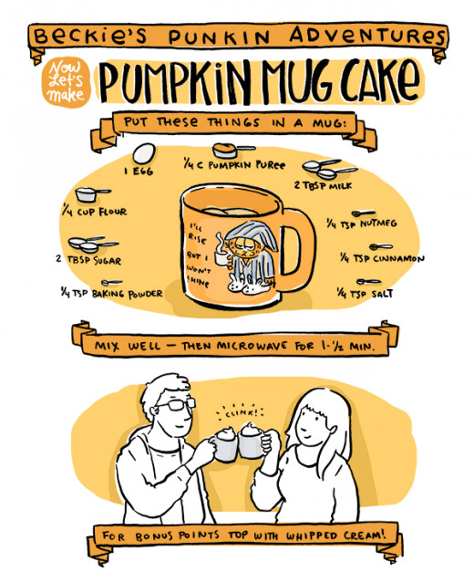 Try this delicious pumpkin mug cake recipe.