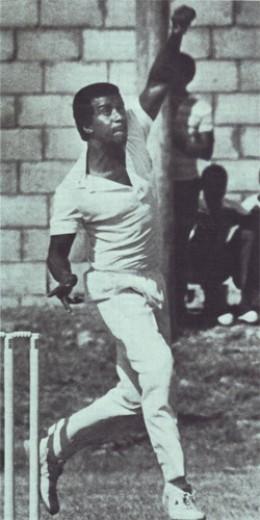 Elquemedo Willett, left-handed Nevisian Cricket Bowler