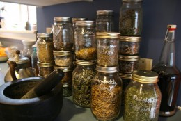 Are lovely glass jars the best way to store your spell herbs?