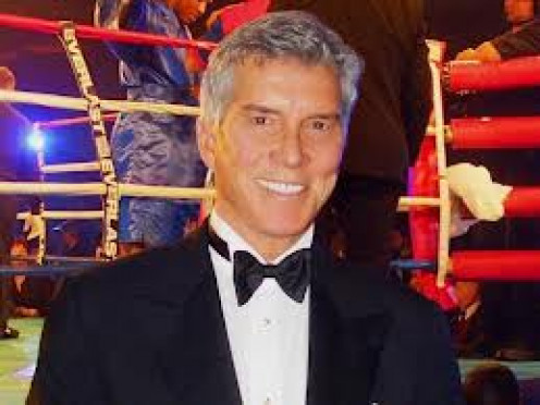 Michael Buffer uses the catch phrase, Let's Get Ready To Rumble. A phrase that he actually has had patented and he is paid to say it all over the world.