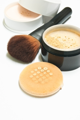 using a translucent powder will not change the color of your foundation but will set your foundation and stop any shine on the skin.