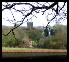 A glimpse of Cilgerran Church.