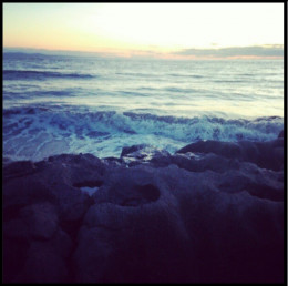 This is one of my instagram photos (bethanrosej). Hashtags used for this include: #waves #hightide #sea #ocean #view #ogmorebysea #wales #beach #beaches #rocks #beautiful #sun #sunset #sunshine