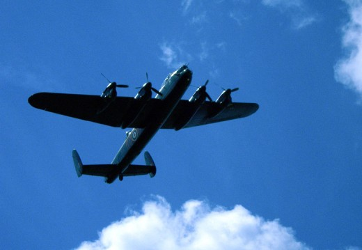 The famous Lancaster Bomber - sightings of ghostly Lancaster Bombers are numerous.