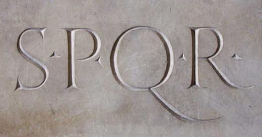 "Senātus Populusque Rōmānus (""The Senate and People of Rome"")"