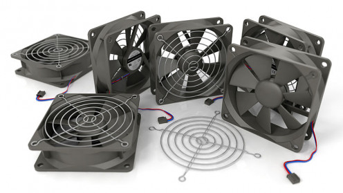 These fans keep your components cool in the summer and  . . . well . . . cool . . . in the winter, too.