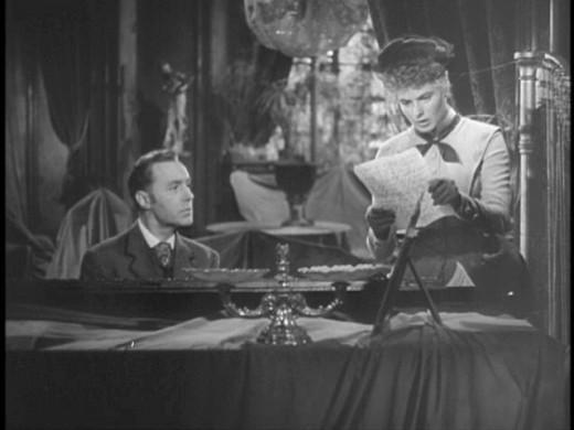 Charles Boyer as Gregory and Ingrid Bergman as Paula.