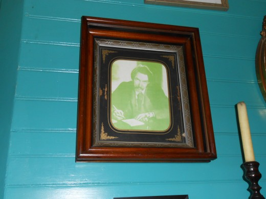 Robert Louis Stevenson portrait that hangs in his Samoan home of Vailima
