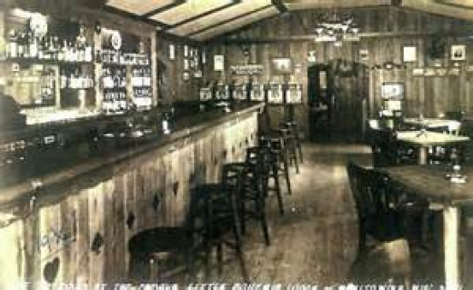 Bar at Little Bohemia