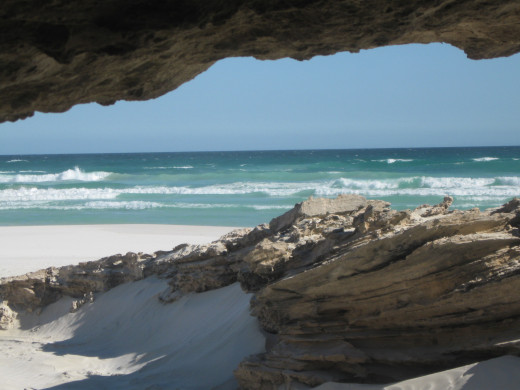 A sandstone cave at Coffin Bay National Park