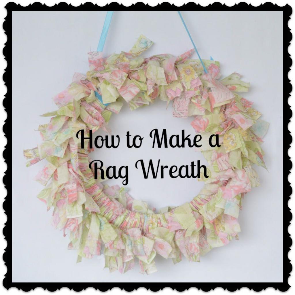 Blukatkraft Easy Diy Scrap Fabric Ribbon Wreath: How To Make A No-Sew Rag Wreath With Fabric Scraps