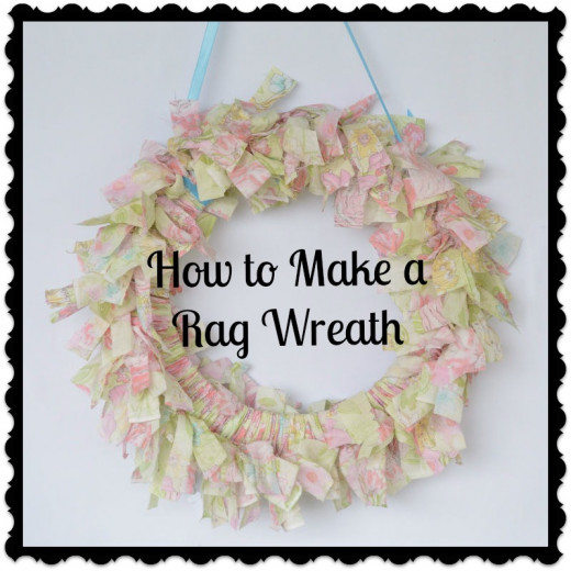 How To Make A No Sew Rag Wreath With Fabric Scraps Hubpages