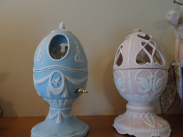 Ceramic musical eggs (Avon) special collectibles get prime attention