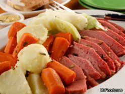 Easy crock pot corned beef & cabbage recipe
