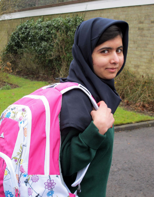 Malala goes back to school after shooting, March 19, 2013.