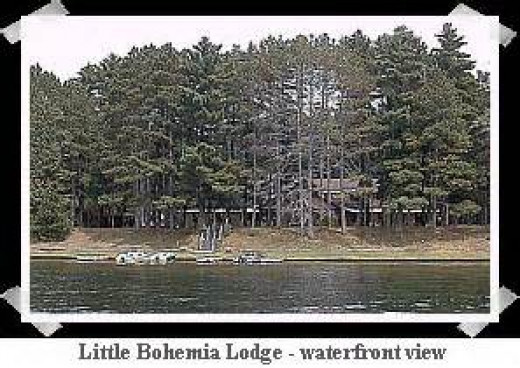 Lakefront View of Little Bohemia Lodge