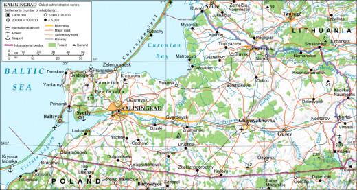 Map of the Kaliningrad Oblast. Author: Andrein