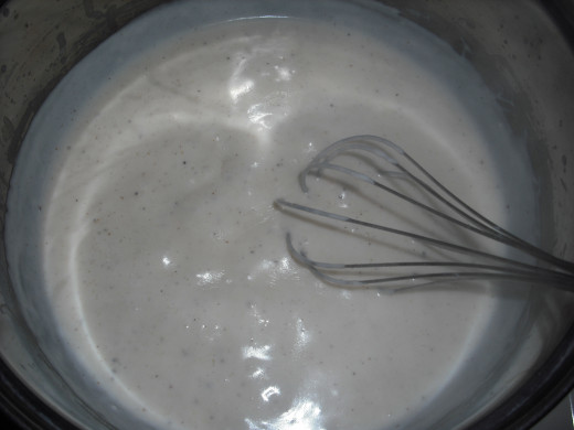 Whisk frequently until thickened.