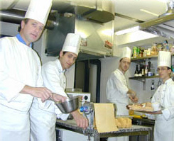 Michelin Starred Chef Bernard Fournier (left) is the genius behind the fine cuisine at La Candida