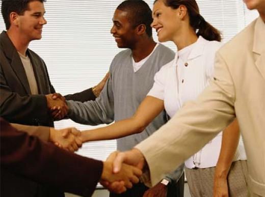 A handshake is always a good start