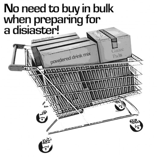 Obtaining your supplies over a 15-week period helps to lessen the impact on your budget. This means you can avoid buying in bulk!