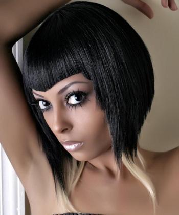 V shaped bangs