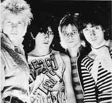 Generation X, 1977. L-R: Billy Idol, Tony James, Bob Andrews, and Mark Laff.