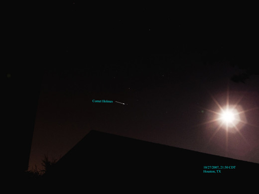 Comet Holmes taken on 10/27/2013 using no zoom.  It appeared in the constellation Perseus