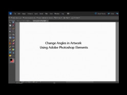 How to Change Angles in Artwork Using Adobe Photoshop Elements