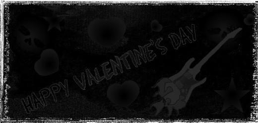 Inside Pic #2 Black Rocker Printable Valentine's Day card