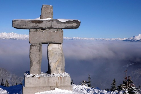Photo: Llaanag inukshuk stands sentinel, a reminder we are a global family.