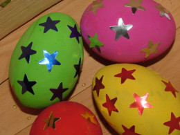 Decorated Easter Eggs for an Easter Egg Hunt