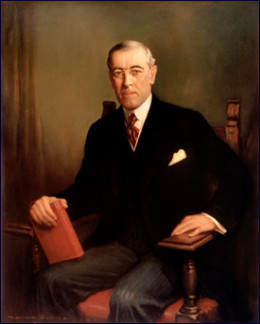 Woodrow Wilson, Diplomat and 28th President of the United States.