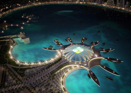 SuperLeague mock-up. Seperate team islands, One Stadium